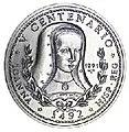 1 песо. Куба. 1991. 500 лет открытию Америки - Королева Иоанна I.jpg