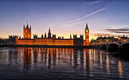 The Palace of Westminster, London 1 westminster palace panorama 2012 dusk.jpg