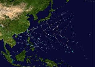 2001 Pacific typhoon season - Image: 2001 Pacific typhoon season summary