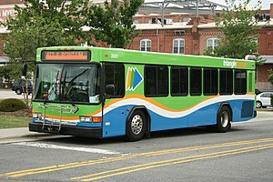 GoTriangle - TTA bus at the DATA terminal in downtown Durham