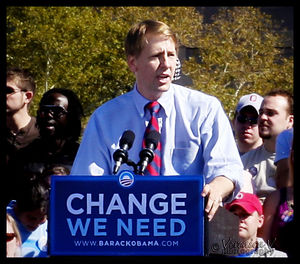 Richard Cordray - Cordray campaigning for Barack Obama on October 13, 2008 in Columbus, Ohio