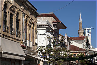Komotini - View of the old city and the Muslim mosque.