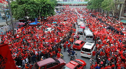 United Front for Democracy Against Dictatorship, Red Shirts, protest in 2010 2010 09 19 red shirt protest bkk 09.JPG