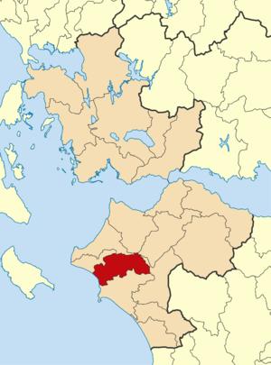 Ilida (municipality) - Image: 2011 Dimos Amaliadas