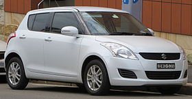 2011 Suzuki Swift (FZ) GL 5-door hatchback (2012-10-26).jpg