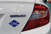 2017 Honda Civic Gx With The Blue Diamond Cng Sticker And New Natural Gas Badging