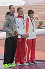 2012 Paralympics Men's High Jump F46 Victory Ceremony.jpg