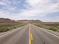 2014-07-17 11 44 45 View west along U.S. Route 6 about 21.4 miles east of the Esmeralda County Line in Nye County, Nevada.JPG