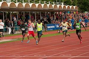 Emre Zafer Barnes - Winston Barnes on track at 2015 Salzburg Athletics Gala.