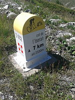 2015 Mountain pass cycling milestone - Iseran from Val d Isere.jpg