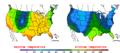2016-04-17 Color Max-min Temperature Map NOAA.png