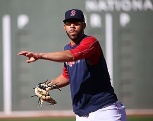 2016-10-10 Boston pitcher David Price warms up before Game 3 of ALDS 02.jpg