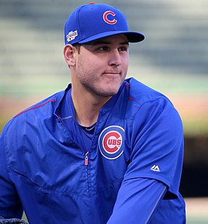 Anthony Rizzo - Rizzo during batting practice before NLCS Game 6 in 2016