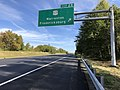 2018-10-19 13 41 35 View east along Interstate 66 at Exit 28 (U.S. Route 17, Warrenton, Fredericksburg) in Marshall, Fauquier County, Virginia.jpg