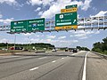 2019-05-29 14 20 44 View north along Interstate 95 (Henry G. Shirley Memorial Highway) at Exit 161 (U.S. Route 1 NORTH, Fort Belvoir, Mount Vernon) in Lorton, Fairfax County, Virginia.jpg