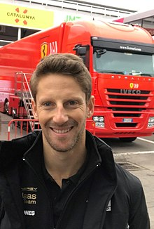 2019 Formula One tests Barcelona, Grosjean (47200025102).jpg
