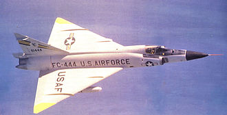 Richards-Gebaur Memorial Airport - 326th Fighter-Interceptor Squadron Convair F-102A-80-CO Delta Dagger 56-1444 about 1960