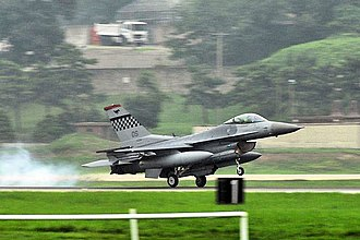 36th Fighter Squadron - Squadron F-16C landing at Osan AB in 2008