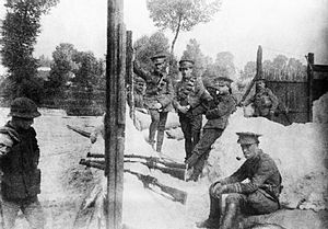 British cavalry during the First World War -  A defensive position built by the 4th (Royal Irish) Dragoon Guards in August 1914