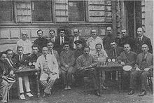 Photograph of the participants of the fourth USSR Chess Championship in 1925