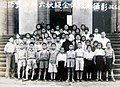 6th grade students of the Mandarin Experimental Elementary School at Taiwan Provincial Museum 1947-06-06.jpg