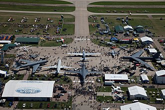 EAA AirVenture Oshkosh - View of Boeing Plaza at EAA Airventure 2017
