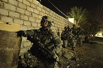 75th Ranger Regiment (United States) - Rangers conduct a security halt in Iraq, 26 April 2007.