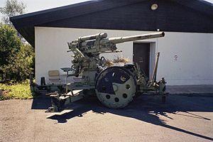 76 mm air defense gun M1931 - 76 mm M1931 at Kempele, Finland.