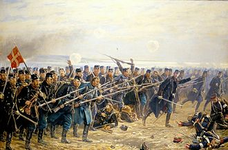 Second Schleswig War - Painting of the Danish counterattack at the Battle of Dybbøl by Vilhelm Jacob Rosenstand (1894)