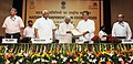 A.P. J. Abdul Kalam a releasing the NCDC Anthem at the National Conference on Cooperatives for the celebration of International Year of Cooperatives, 2012.jpg