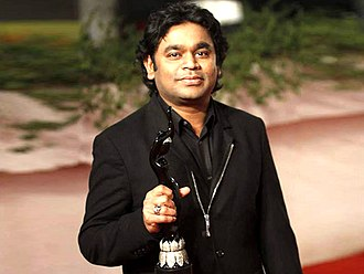 Filmfare Award for Best Music Director - A. R. Rahman with his award of 2012 for the film Rockstar. He holds the record of maximum wins in this category.