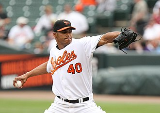 Daniel Cabrera - Cabrera pitching for the Orioles in 2008