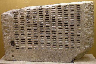 Sortition - A kleroterion in the Ancient Agora Museum (Athens)