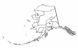 Location of Talkeetna, Alaska