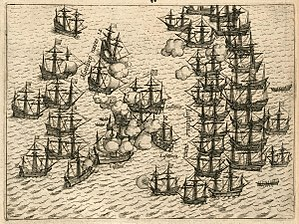Battle of Cape Rachado - Battle of Cape Rachado, anonymous depiction