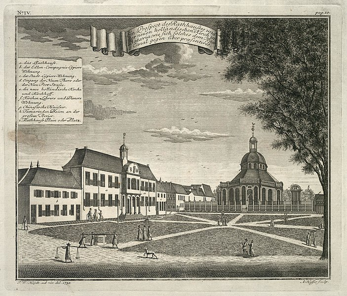 File:AMH-7018-KB View of the town hall and the new Dutch church in Batavia, seen from the Tijgersgracht canal.jpg
