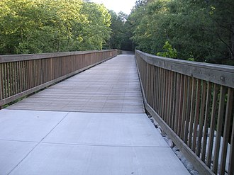 American Tobacco Trail - The ATT crosses Panther Creek in Chatham County.