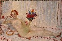 A Model (Nude Self-Portrait) by Florine Stettheimer, c 1915-16.jpg