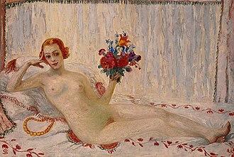 Florine Stettheimer - A Model (Nude Self-Portrait), 1915–16, oil on canvas