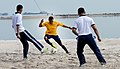 A U.S. Sailor, center, plays soccer with Indonesian sailors during a Sports Day event in support of Cooperation Afloat Readiness and Training (CARAT) 2013 in Jakarta, Indonesia, May 28, 2013 130528-N-YU572-032.jpg