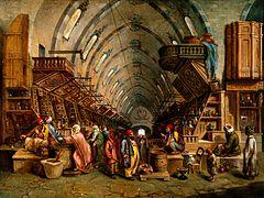 A bazaar. Oil painting. Wellcome V0017599
