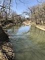 A calm creek at rock Creek Crossing in Council Grove, KS (da2428bce35f4ddfbc2af2f406be5344).JPG