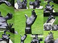 A collage of photographs of the statue of Thomas Becket by St Paul's Cathedral.jpg