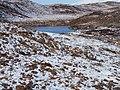 A moorland lochan in winter - geograph.org.uk - 1725077.jpg