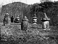 A stupa containing the remains of a famous monk around 1910s, Photo-No.5028.jpg