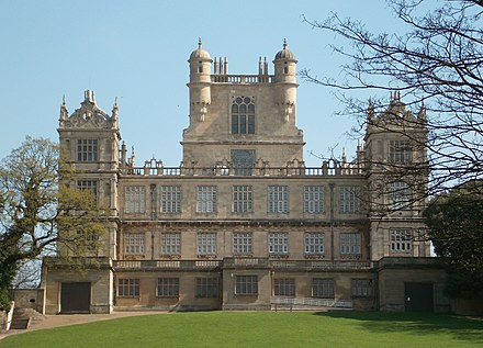 Wollaton Hall A view of Wollaton Hall west front, Nottingham, England 01.jpg