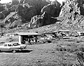A view of the Chisos Basin campground in Big Bend National Park. Here, ramadas with tables and charcoal broilers, sanitary (e0d3396d5d3f4f1aab1e77f428c348a9).jpg
