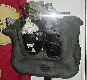 Self-contained breathing apparatus - Siebe Gorman Savox in a coal mining museum