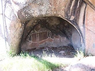 Registered Aboriginal Party - Aboriginal painting in Grampians National Park in Victoria, Australia