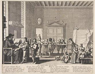 Cyrano de Bergerac - Abraham Bosse (1602–1676), Le Maître d'école.